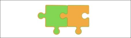 Puzzleteil breit